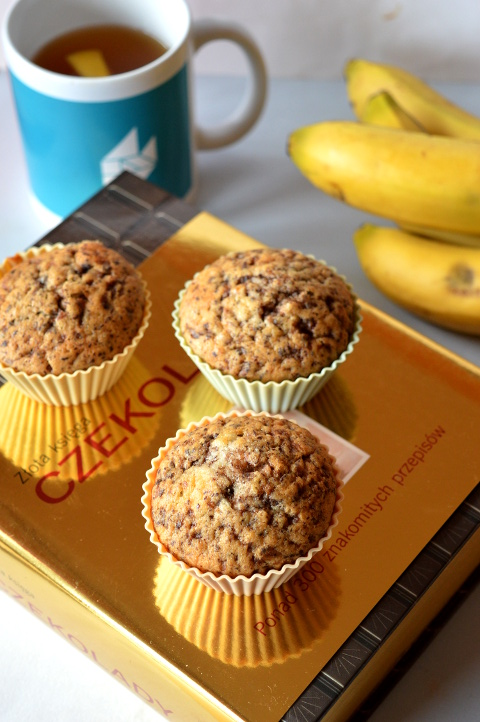 babeczki czekoladowo-bananowe