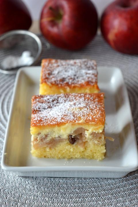 ciasto cytrynowe z jabłkami i serem